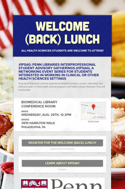 Welcome (Back) Lunch