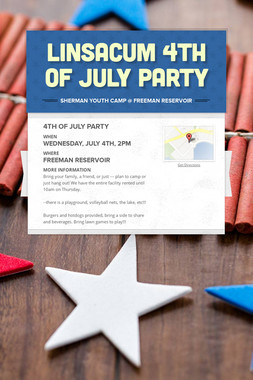 Linsacum 4th of July Party