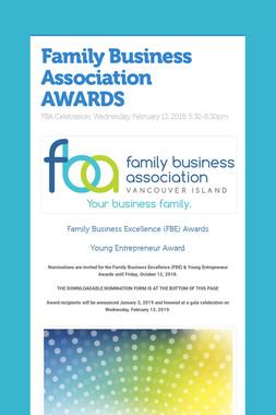 Family Business Association AWARDS