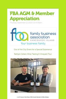 FBA AGM & Member Appreciation