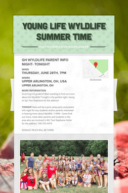 Young Life Wyldlife Summer Time