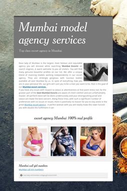 Mumbai model agency services