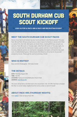 South Durham Cub Scout Kickoff