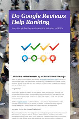 Do Google Reviews Help Ranking