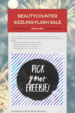 Beautycounter Sizzling Flash Sale