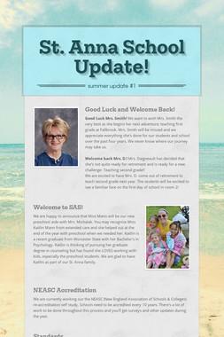 St. Anna School Update!