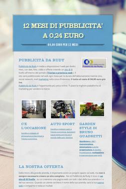 12 MESI DI PUBBLICITA' a 0,24 EURO