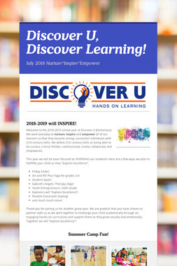 Discover U, Discover Learning!