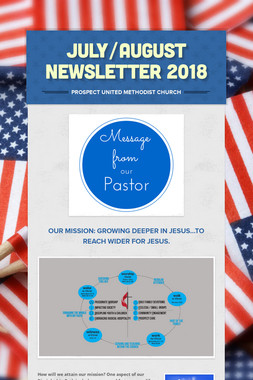 July/August Newsletter 2018