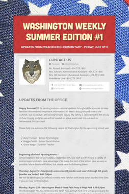 Washington Weekly Summer Edition #1