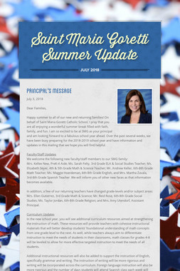 Saint Maria Goretti Summer Update