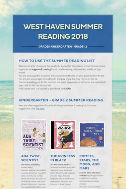 West Haven Summer Reading 2018
