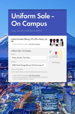 Uniform Sale - On Campus