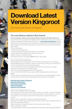 Download Latest Version Kingoroot