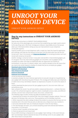 UNROOT YOUR ANDROID DEVICE