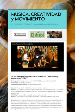 MÚSICA, CREATIVIDAD y MOVIMIENTO