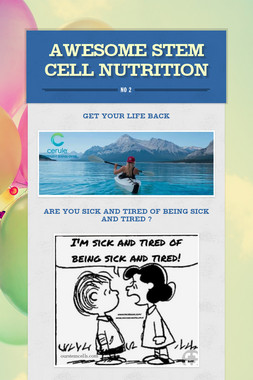 Awesome Stem Cell Nutrition