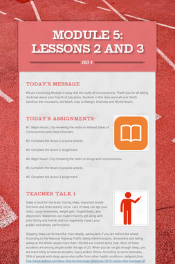 MODULE 5: Lessons 2 and 3