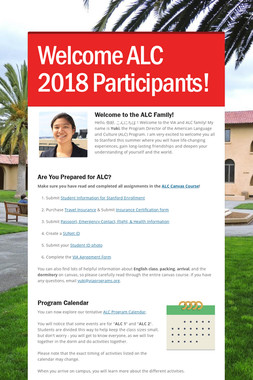 Welcome ALC 2018 Participants!