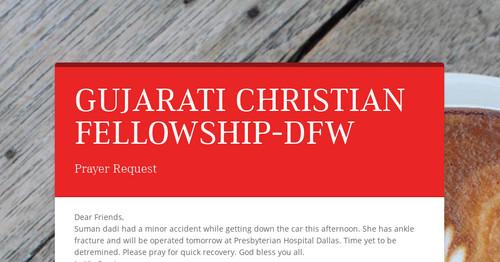 GUJARATI CHRISTIAN FELLOWSHIP-DFW   Smore Newsletters