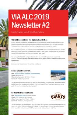 VIA ALC 2018 Newsletter #2