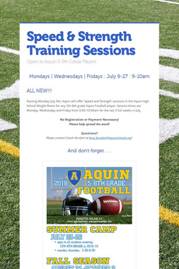 Speed & Strength Training Sessions