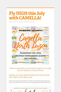 Fly HIGH this July with CAMELLA!
