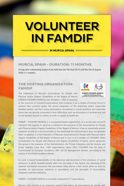 VOLUNTEER IN FAMDIF