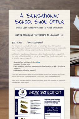 A 'Sensational' School Shoe Offer
