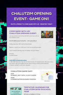 Chalutzim Opening Event- GAME ON!