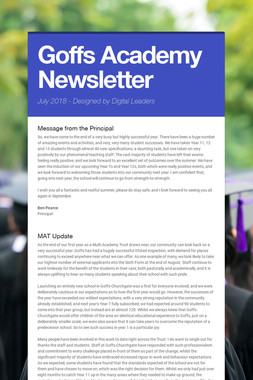 Goffs Academy Newsletter