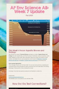 AP Env Science AB: Week 8 Update