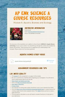 AP Env. Science A Course Resources