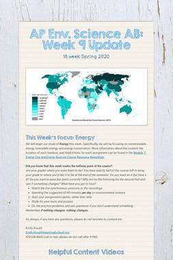 AP Env. Science AB: Week 9 Update