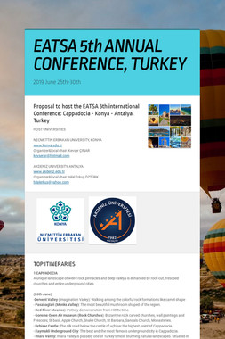 EATSA 5th ANNUAL CONFERENCE, TURKEY
