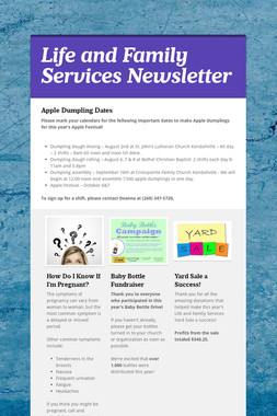 Life and Family Services Newsletter