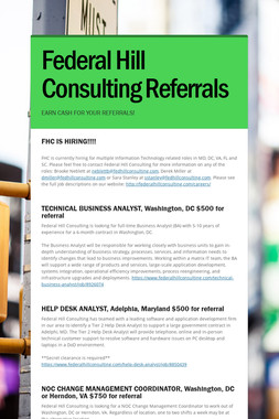 Federal Hill Consulting Referrals