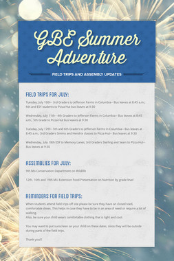 GBE Summer Adventure