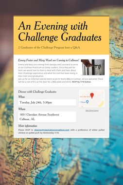 An Evening with Challenge Graduates