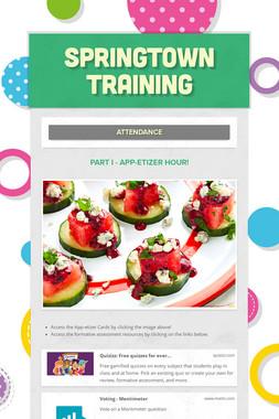 Springtown Training