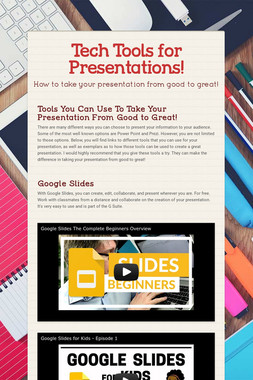 Tech Tools for Presentations!