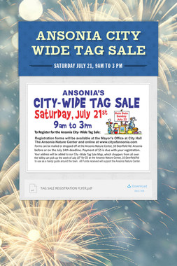ANSONIA CITY WIDE TAG SALE