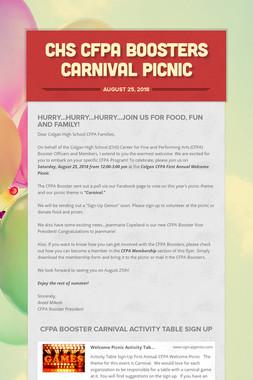 CHS CFPA Boosters Carnival Picnic