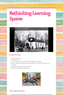 Rethinking Learning Spaces