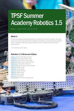 TPSF Summer Academy Robotics 1.5