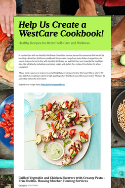 Help Us Create a WestCare Cookbook!