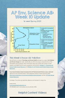 AP Env. Science AB: Week 10 Update