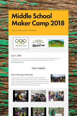 Middle School Maker Camp 2018