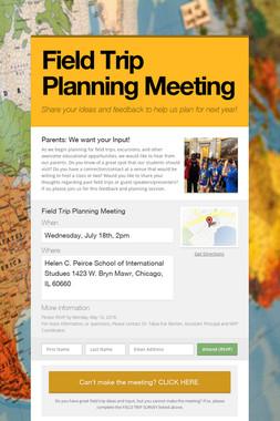 Field Trip Planning Meeting