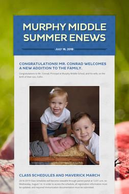 Murphy Middle Summer ENews